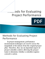 Methods for Evaluating Project Performance