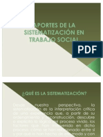 APORTES DE LA SISTEMATIZACIÓN EN TRABAJO SOCIAL