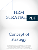 Srategic HRM Strategies