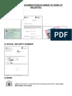 Mandotory Documentation in Order to Work at Sellbytel