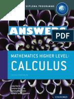 Mathematics HL - ANSWERS - Calculus - Course Companion - Oxford 2014
