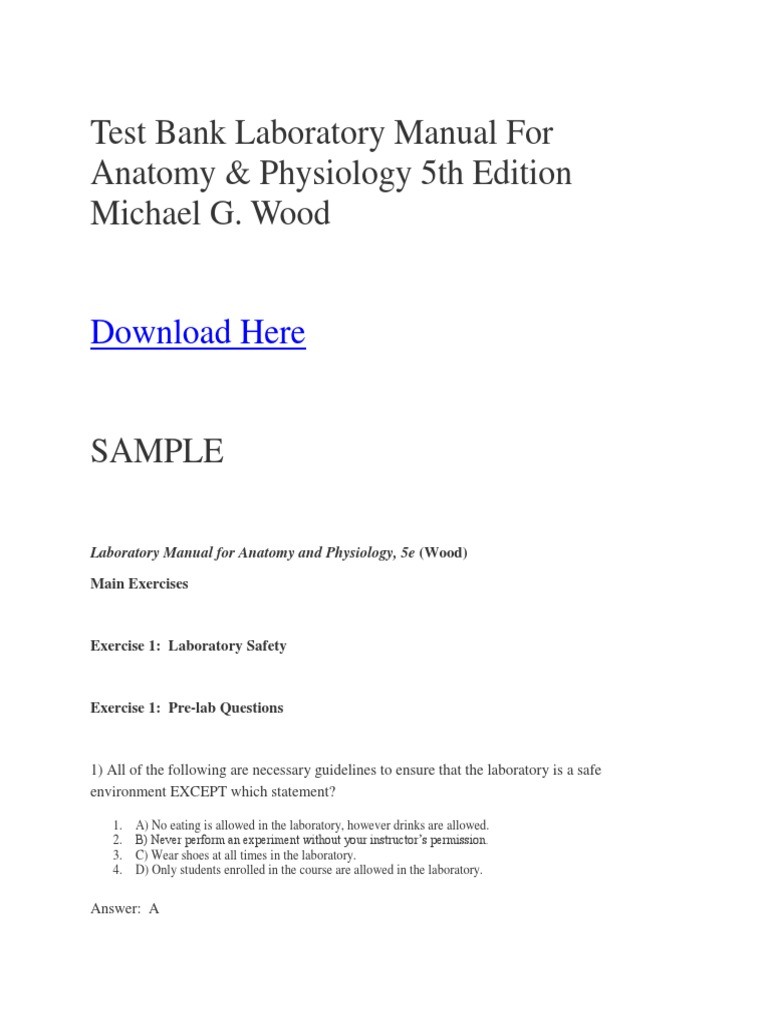 Awesome Laboratory Manual For Anatomy And Physiology 5th Edition ...