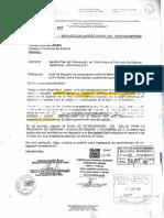 Carta de Ministerio de Salud a Municipalidad de Espinar