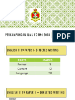 Perkampungan Ilmu Form4 2018 (Students)