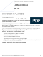Dosificacion de Plaguicidas « Manipulacion de Plaguicidas