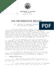 Hawaii newspaper tax memo
