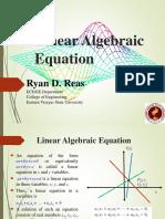 3 - Linear Algebraic Equations