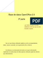 Base Datos OpenOffice Tercera Parte