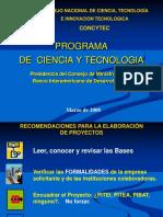 Recomendaciones Formulacion Proyectos- CONCYTEC