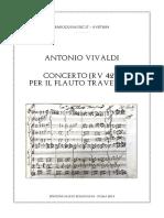 Vivaldi Concerto Flauto Traversier RV 427 Score