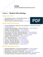 Medical Microbiology - Lecture Notes, Study Materials and Important questions answers