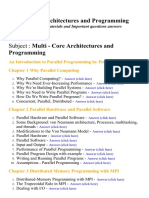 Multi Core Architectures and Programming - Lecture Notes, Study Materials and Important questions answers