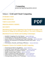 Grid and Cloud Computing - Lecture Notes, Study Materials and Important questions answers