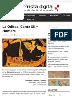 La Odisea, Canto XII ~ Homero – El Inconformista Digital