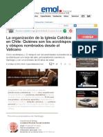 La Organización de La Iglesia Católica en Chile_Arzobispos y Obispos Nombrados Desde El Vaticano