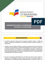 PPT Lineamientos Para El Accionar Del Pedagogo de Apoyo a La Inclusión