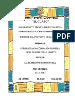 Informe de Las Pasantias (Gabriela Peñarreta - Carla Peña)