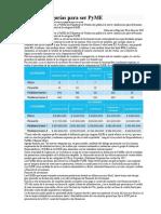 Nuevas Categorias Para Ser PyME en Argentina