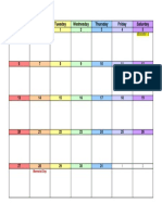 May 2018 Calendar Landscape