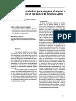 Tobar & Martich (2014). Herramientas Económicas Para Asegurar Acceso a Medicamentos