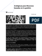 6 Claves Estratégicas Para Recursos Humanos Basadas en La Gestión Deportiva