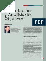 Formulación y Análisis de Objetivos