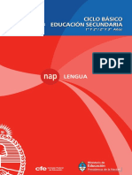 NAP Secundaria Lengua 2011 Baja