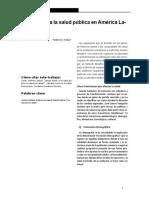 Tobar (2016) Hacia Donde Va La Salud Pública en América Latina
