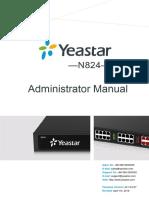 Yeastar N824 Administrator Manual En