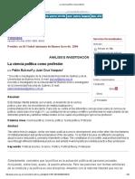 Pablo Bulcourf y Juan Cruz Vazquez - La ciencia política como profesión.pdf