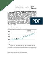 Gasto en Medicamentos en Argentina 2007