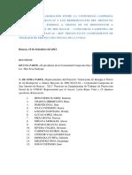 Acuerdo de Colaboración Entre La Comunidad Campesina San Antonio de Rancas y Los Representates Del Proyecto