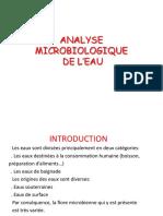 TD Microbiologie de l'Eau 2018
