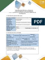 Guía de Actividades y Rúbrica de Evaluación - Fase 3 - Aplicar Los Conceptos de La Línea y Sublíneas de Investigación