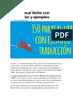 150 Phrasal Verbs Con Traducción y Ejemplos