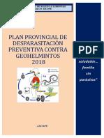 Plan Provincial de Desparasitacion 2018
