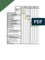 Cronograma actividades cmmi nivel 1