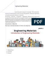 Introduction of Engineering Materials