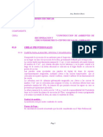 Especificaciones Tecnicas Centro de Salud