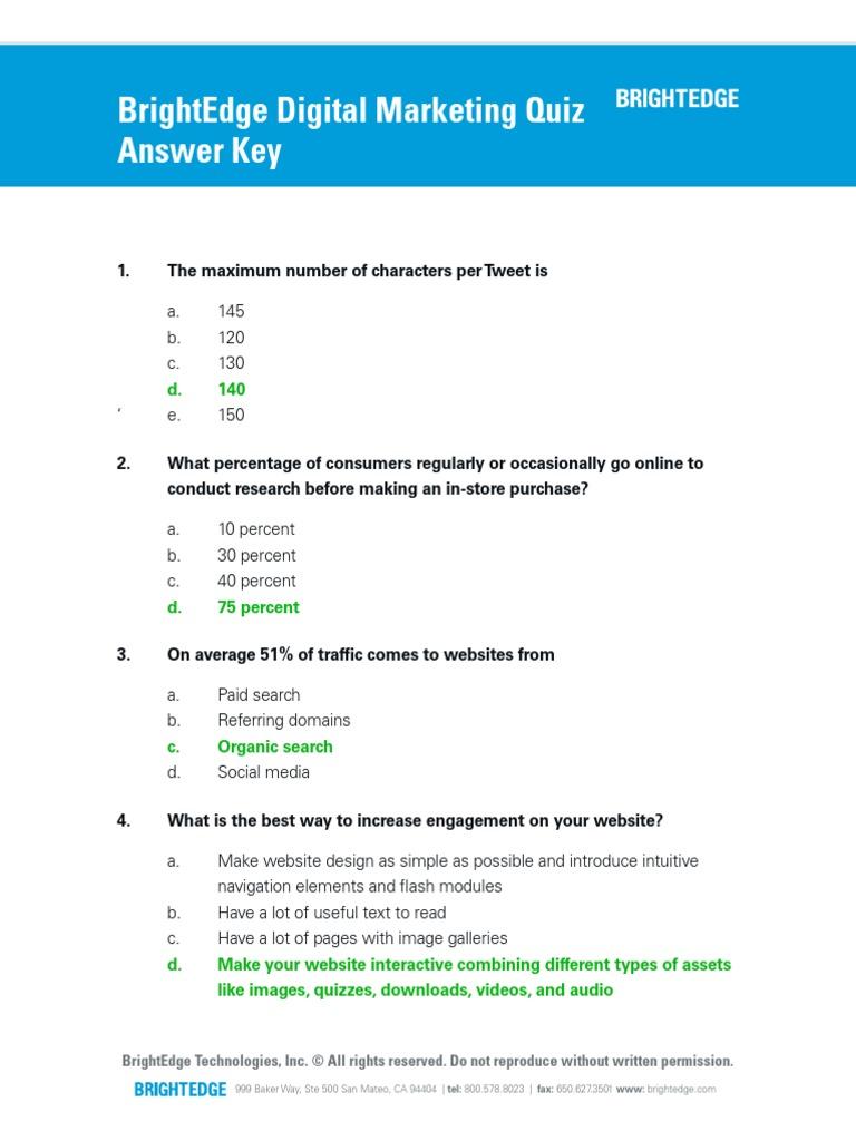 Digital Marketing Quiz Upd Search Engine Optimization Websites