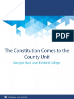 The Constitution Comes to the County Unit Georgia's State Level Electoral College