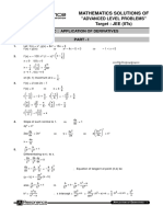 ALP Solutions Application of Derivatives Maths Eng