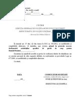 Anexa 16 Cerere Avizare Plan de Paza Transport Valori (Actualizare)