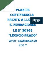Plan de Contingencia Lluvias Torrenciales