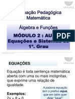 PPT_Aula 5_Equação e Sistemas Do 1o. Grau.