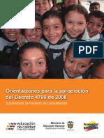 Orientaciones Decreto 4790 de 2008 Normales