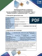 Guía de actividades y rúbrica de evaluación - Fase 3. Realizar proyecto Cumplimiento guía. Proyecto 1 (1).docx