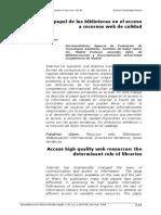 Acceso Recursos Web de Calidad