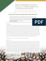 Propiedades agroproductivas de Ricinus communis L. y caracterización fisicoquímica del aceite