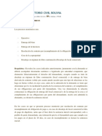 Proceso Monitorio Civil Bolivia